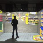 Virtual reality store immersive room