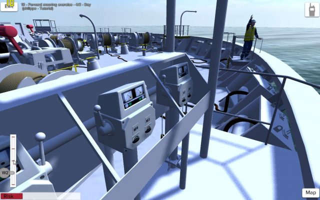CMA-CGM 3D virtual reality training mooring