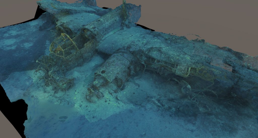 comex wreck archeology plane virtual reality real time point cloud