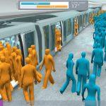 3D crowd simualtion alstom ratp metrolab