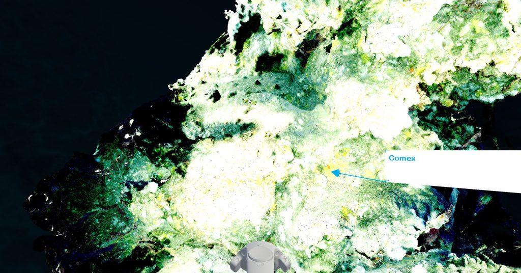 VR pointcloud 3D scan nuage de points