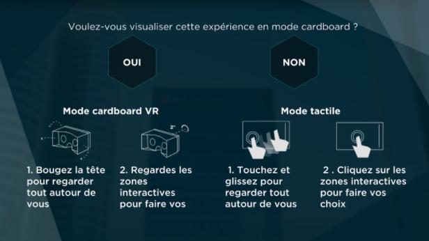 Réalité virtuelle expérience